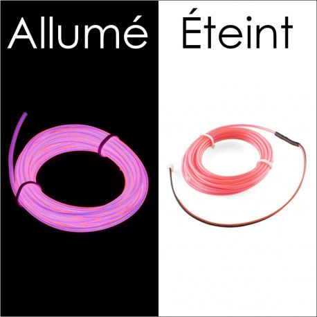 Fil électroluminescent Rose diamètre 1.4mm
