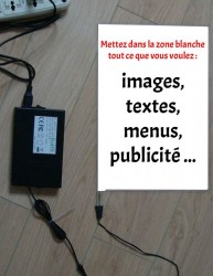 Feuille lumineuse personnalisee A4