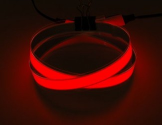 Pack Bande Électroluminescente Rouge 1m + Boitier 12V
